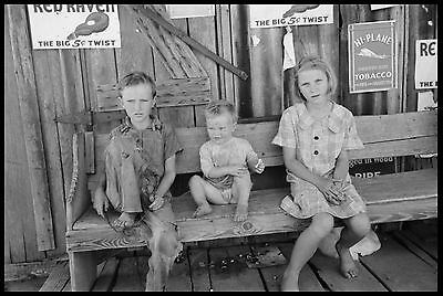 "Russell Lee photo, FARM KIDS, Children, Advertisments, Tobacco, 15""x11"", Country"