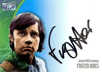 Dr Doctor Who Series 3 Auto Card AU16 Frazer Hines as Jamie McCrimmon