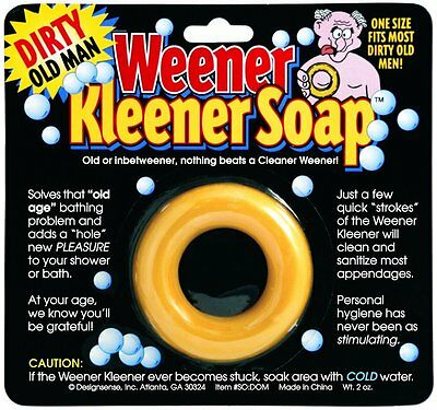 Dirty Old Man Weener Kleener Soap Weiner Willy Cleaner - gag prank joke