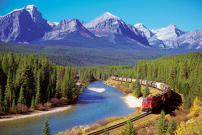 Train In The Rockies Poster Print, 36x24