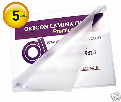 500 Hot 5 Mil Letter Laminating Pouches 9 x 11-1/2 Clear