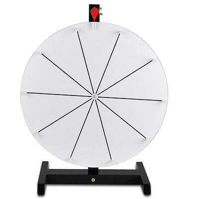 """Editable 15"""" Prize Wheel Dry Erase Fortune Trade Show Carnival Spin Game"""