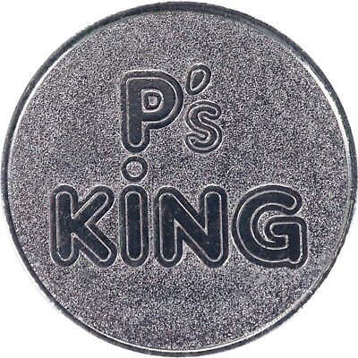 100 Large Tokens for Skill Stop Machines P's King Style 30 mm
