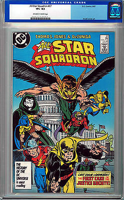 All-Star Squadron #67 Cgc 8.5 Off-White To White Pages Copper Age