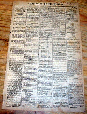 1813 Washington NATIONAL INTELLIGENCER newspaper  RUNAWAY SLAVE AD Georgetown DC