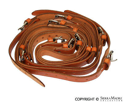 Luggage Rack Leather Strap Set, Tan, All Porsche 356's (50-65)