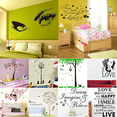 DIY Removable Wallpaper Wall Sticker Art Vinyl Quote Decal Mural Home Room Decor