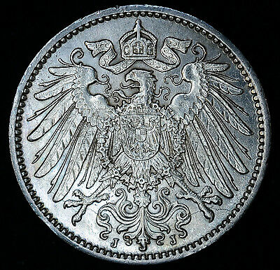 Germany 1 Mark 1914 J CH BU Silver KM#14 German Empire Tons Of Mint Luster 1M