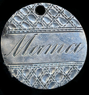 Love Token Engraved MAMA on 1856 Liberty Seated Dime 10c Silver.