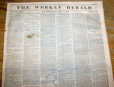 1853 newspaper GEORGE McQUEERY Early Fugitive Slave recaptured  CINCINNATI Ohio