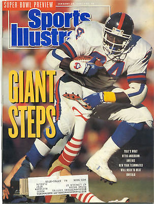 January 28 1991 Ottis Anderson New York Giants Football Sports Illustrated OLD
