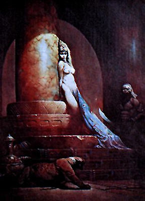 "Egyptian Queen- Frank Frazetta Print/Poster-Vintage 18""x23"" Rolled (FZ-2-4)"