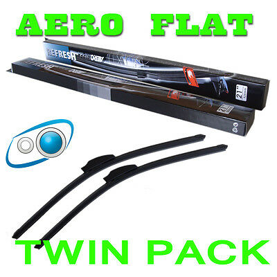 22/16 Inch Aero Flat Windscreen Wipers Blades Washer Ford Fiesta Mk6 01-08
