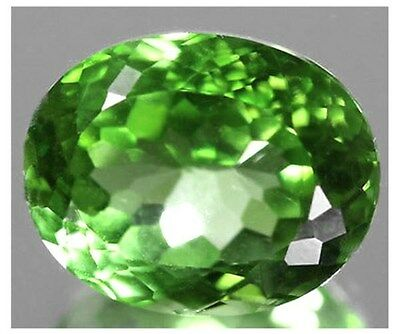 """rare""large Top Apple Green Eye Clean Untreated Pakistan Peridot 9.68Ct."