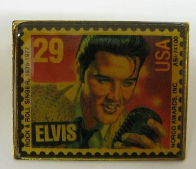 Elvis Aaron Presley 29 Cent Postal Stamp Commemorative Pin Music Rock N Roll