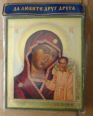 Russian wood icon Virgin of Kazan   LARGE  #1