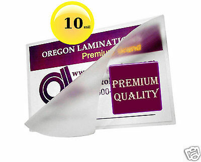 500 Hot 10 Mil Letter Laminating Pouches 9 x 11-1/2 Clear