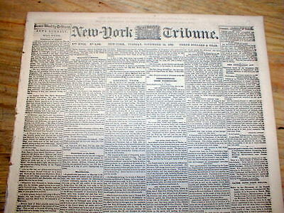 1862 Civil War newspaper ABRAHAM LINCOLN signed order re CONFISCATION of SLAVES