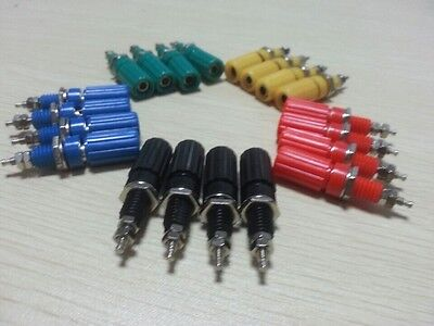 10/20Pc 4mm M3Amplifier Terminal Binding Post Banana Plug Jack Plastic Connector