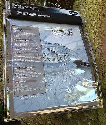 Sea to Summit Waterproof Map Case LARGE for Hiking, Adventure, Mountain Bike etc