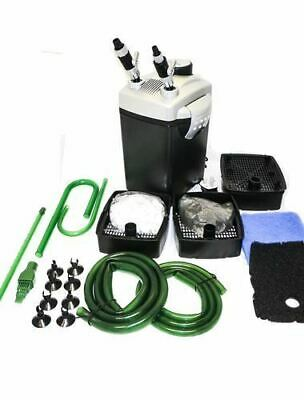 Hidom External Aquarium Filter Fish Tank Canister & FREE Media Tropical Marine
