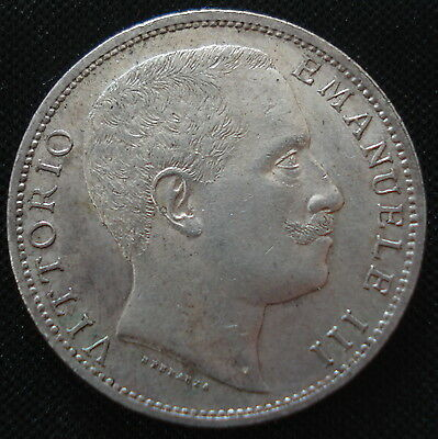 Excellent Italy 1905 2 Lire Uncirculated Superb Definition Km# 33
