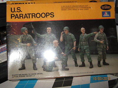 Testors WWII US Paratroopers Figures-1/35 Scale-Free Shipping