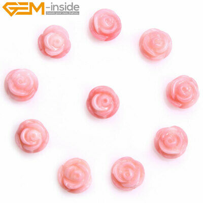Half-drilling Flower Natural Coral Rose Bead DIY Jewelry Making Beads Dyed Color