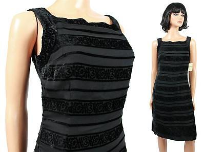 NWT Coldwater Creek Sleeveless Silk Burnout Velvet Cocktail Little Black Dress S