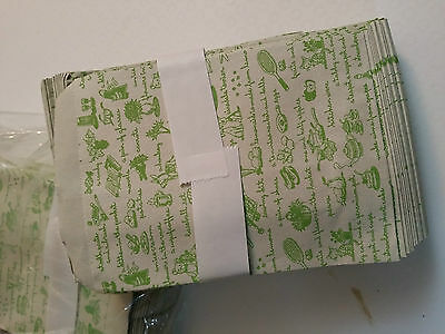 Decorative Paper Party Gift Bag Envelopes Green Icons Patterns Set Of 10 Type 2