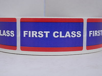 FIRST CLASS USPS 1x2 Stickers Labels Mailing Shipping 250/rl