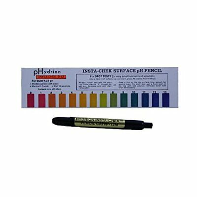 1 Hydrion Insta-Chek 0-13 Mechanical pH Pencil PEN Acid Surface  Test USA seller