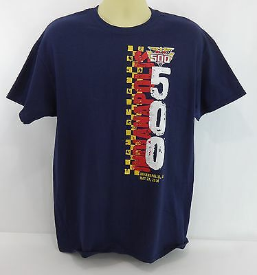 New 2014 Indianapolis 500 Event Collector T-Shirt 1-Side Dk Navy Blue