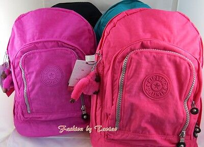 New with Tag Kipling Hiker Expandable Backpack with Furry Monkey