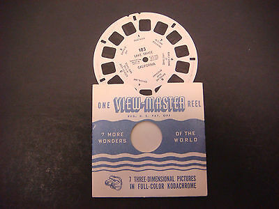 Sawyer's Viewmaster Reel, Lake Tahoe,Autumn Coloring,Cave Rock,Emerald Bay #183