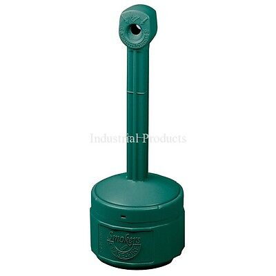 Justrite SMALL Smokers Cease Fire Cigarette Urn Receptacle Forest Green 26806G