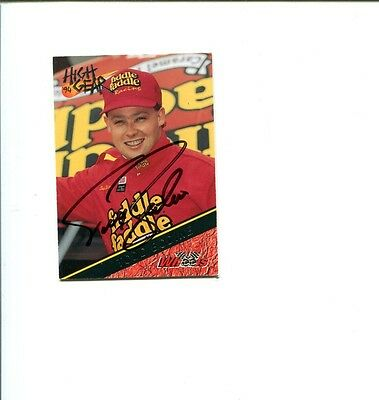 Todd Bodine NASCAR Driver 1994 Wheels High Gear Signed Autograph Photo Card