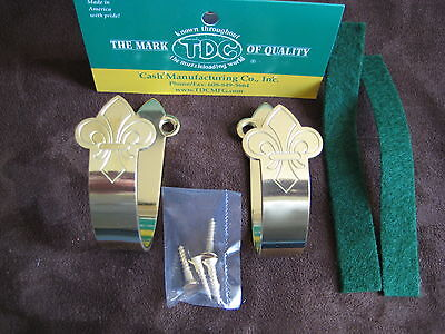 Ted Cash Solid brass Gun Hangers or Sword hangers MADE IN USA