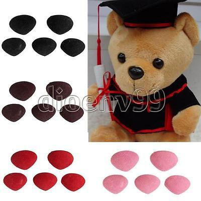 5Pcs Plastic Safety Triangle Velvet Noses Buttons Eyes DIY For Teddy Bear Toy
