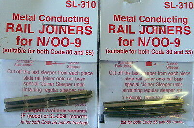 Peco Code 80/55 N Gauge Sl310 Metal Rail Joiners X2 Pack Of 24 Joiners Pesl310