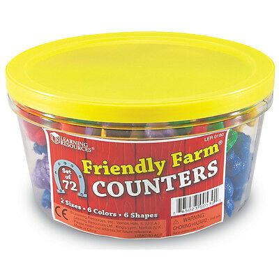 Learning Resources Friendly Farm Animal Counters (Set of 72)