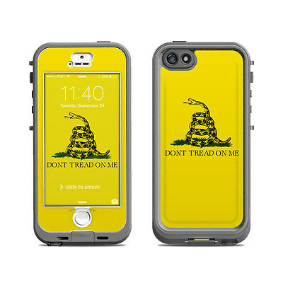 Skin for LifeProof Nuud iPhone 5S - Gadsden Flag by Flags - Sticker Decal
