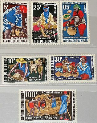 NIGER 1963 37-42 117-21 C26 Handwerk Handicrafts Jobs Woodworker Goldsmith MNH