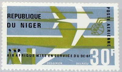 NIGER 1966 135 C63 AIR AFRIQUE DC-8 F Flugzeuge Airplanes Aircrafts Planes MNH