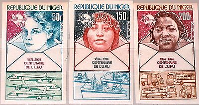 NIGER 1974 442 444-45 U C240 C242-43 Cent. Universal Postal Union UPU Bus Ship**