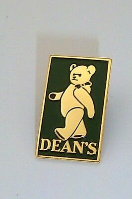 Dean's Enamel Green And Gold Pin