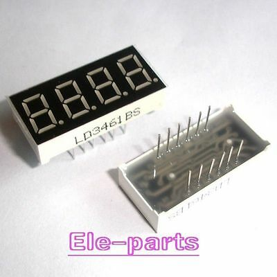 """5 PCS 4 Digits 0.36""""RED 7 SEGMENT LED DISPLAY COMMON ANODE LD-3461BS NEW"""