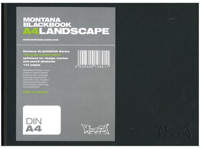 MONTANA BLACKBOOK A4 LANDSCAPE - A4 Sketchpad, 144 Pages, 120gsm Paper