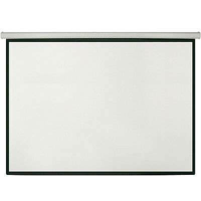 "100"" Manual Pull Down Projector Screen 4:3 -Wall/Ceiling Mount-Home Movie Cinema"