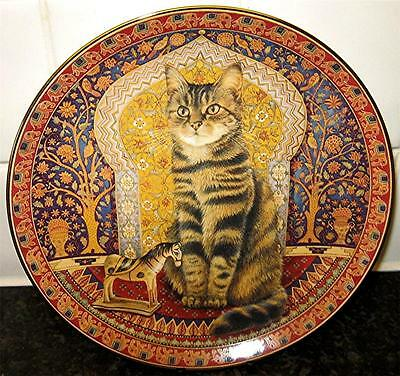 LESLEY ANN IVORY Blossom in India CATS AROUND THE WORLD CAT Danbury Mint Plate